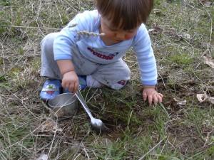 Xander digging